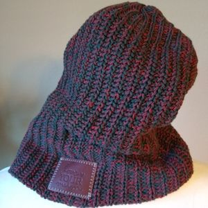 Love Your Melon Knit Beanie Hat Two Tone